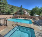 Hot tub at Ferringway Condominiums vacation rental in Durango Colorado