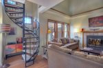 Loft bedroom of Ferringway vacation rental condominium in Durango Colorado