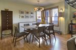 Dining room in Durango Colorado vacation rental at Ferringway Condominiums