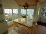 The dining room has awesome ocean views