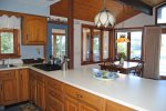 Lovely open concept kitchen with views to outside