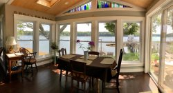 Newly renovated cottage with lovely views, a spacious master suite, and a dock