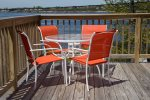 Enjoy a meal out on the deck