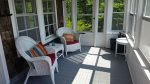 A nice bright sunporch to sit and enjoy the view