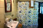 A full bathroom is located in the main cabin.