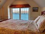 Another view of the master bedroom over looking Harpswell Sound