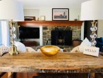 Beautiful stone fireplace non functioning