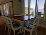 Dining area with great water views
