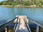 Dock perfect to swim, canoe, or kayak from