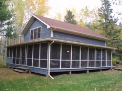 Family Cabin with Wrap Around Screen Porch