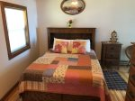 Master Bedroom with Bath and Queen Bed.  Private Access to Deck