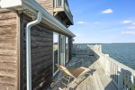 Access to yet another furnished deck with water views.