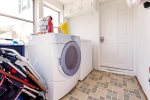 Mud Room Entry Way also houses Full Size Washer and Dryer.