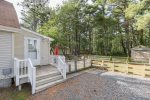 Slack Tide has lots of parking and a fabulous Fenced-in Backyard for the family dog.