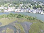 Lewis Creek opens to the Chincoteague Bay.