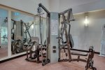 Fabulous 2,000 sq ft Fitness Center will wow you.