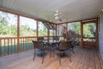 Huge Screened-in Porch for dining Al Fresco - a great place for a Crab Feast.