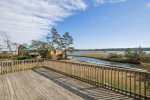 A huge Sun Deck to relax on while watching the Herons & Egrets fish in the Bay.