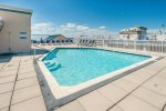 You will love the Luxurious Rooftop Pool.