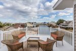 The Upper Deck off of Living Area has incredible Chincoteague Bay Views.
