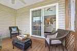 Relax with a glass of wine of the fabulous Screened Porch at the day`s end.