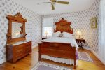 The Lavender Room has a Queen Bed and Private Bath.