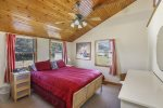 Bedroom 2 is the Master & has Soaring Ceilings and is light & bright with Skylights.