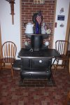 Decorative Antique Cook Stove in Kitchen Area