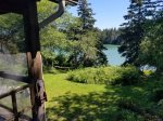 Views of the Lush Back Yard of Dear Cove Retreat