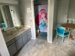 Mermaid Loft has 2 queens and a full bed w/ Private Bath