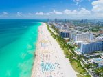 The iconic Miami Beach is seven miles away from our home.