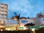 Mercy Hospital is seven minutes drive away from our home.