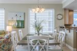 Bright Dining Area with Seating for 8 at the Table and More at the Breakfast Bar