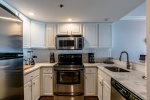 Stainless Steel Appliances in the Fully Equipped Kitchen