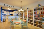 Colorful Living Area with a Variety of Books for Your Leisure