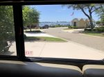 View from inside Motor Coach