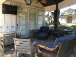 Patio furniture, Outdoor kitchen, TV, Gas grill