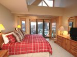 Master suite, vaulted ceilings with french doors to balcony with lots of VIEWS