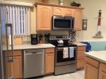 Kitchen with New Stainless Steel Appliance