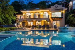 Splendid Views of Peninsula Papagayo from the Beach Entry Pool  5 bed 5.5 bath