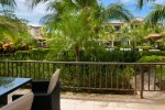 Condo deck with easy pool access