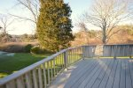 Deck overlooking conservation area