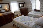 Upstairs twin bedroom. Charming and perfect for kids.