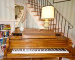 Piano in second living room/sitting room