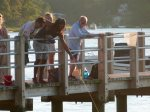 Crabbing from the boat/swim/fish dock at Meeting House Pond