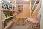 Lower level book nook