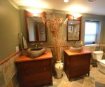 Master bath with twin sinks