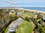Aerial of yard and surrounding neighborhood - you are just steps from the ocean