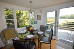 Dining area with beautiful views of Boat Meadow River