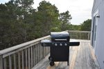 Wrap around deck off 3rd level with gas grill